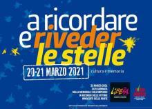"""A RICORDAR E RIVEDER LE STELLE"" 20 E 21 MARZO 2021"