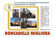 al via i lavori di allargamento e rifacimento marciapiede di via Cismondi