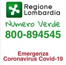 NUMERO VERDE 800894545 PER INFORMAZIONI CORONAVIRUS