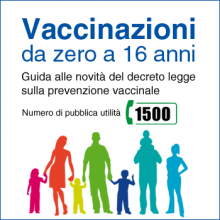 Le vaccinazioni obbligatorie per i cittadini 0-16 anni